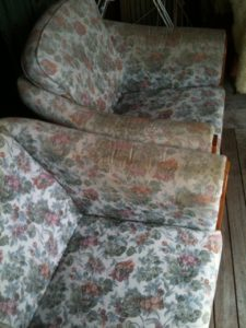 Couches before cleaning
